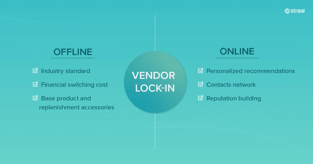 comparision: vendor lock-in for online & offline business